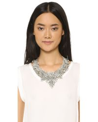 Jenny Packham | Metallic Gazelle Crystal Necklace | Lyst