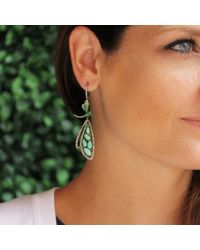 Wendy Yue - Green Turquoise Dragonfly Drop Earrings - Lyst