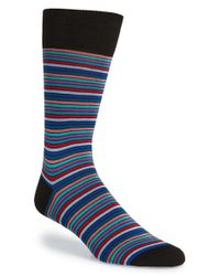 Bugatchi | Black Stripe Socks for Men | Lyst