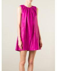 KENZO - Purple Pleated Dress - Lyst