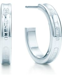 Tiffany & Co. | Metallic Tiffany 1837™ Hoop Earrings In Sterling Silver, Small | Lyst