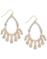 INC International Concepts | Gold-tone Pink Bead Gypsy Earrings | Lyst