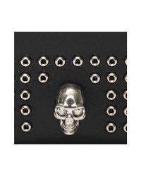 Alexander McQueen - Black Mini Studs Card Holder for Men - Lyst