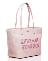 kate spade new york - Pink All That Glitters Small Harmony - Lyst