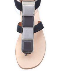 Jeffrey Campbell - Black 4-square T-strap Flat Sandal - Lyst