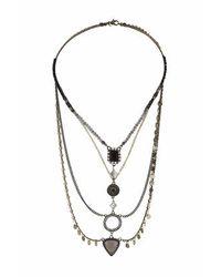 TOPSHOP - Multicolor Facet Disc Necklace - Lyst
