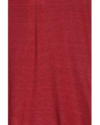 120% Lino - Red V-neck T-shirt - Lyst