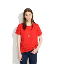 Madewell - Red Universal Tee - Lyst