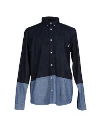 Carhartt - Blue Denim Shirt for Men - Lyst