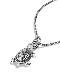 David Yurman - Metallic Cable Collectibles Turtle Charm - Lyst