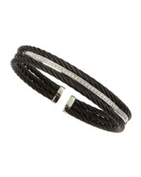 Alor | Black Three-strand Diamond-bar Bangle | Lyst