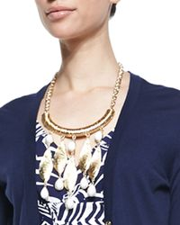 Lilly Pulitzer | Metallic She Shells Necklace | Lyst