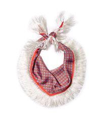 Balenciaga | Red Tassel-trim Silk-twill Scarf | Lyst