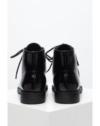 Forever 21 - Black Faux Patent Leather Boots - Lyst