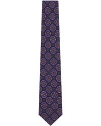 Charvet | Blue Large Emblem Silk Tie for Men | Lyst