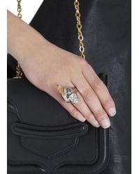 Alexander McQueen | Metallic Silver Tone Skull Ring | Lyst