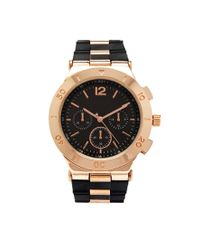 Forever 21 | Black Silicone Band Chronograph Watch | Lyst