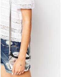 Estella Bartlett | Metallic Silver Plated Lady Luck Star Chain Bracelet | Lyst