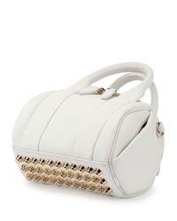 Alexander Wang - White Mini Rockie Leather Satchel Bag - Lyst