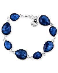 Jones New York - Silver-Tone Blue Stone Teardrop Bracelet - Lyst