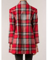 Vivienne Westwood Red Label - Red Tartan Coat - Lyst