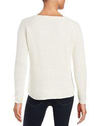 BB Dakota   White Hi-lo Knit Sweater   Lyst