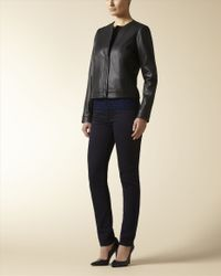 Jaeger - Black Miter Leather Jacket - Lyst