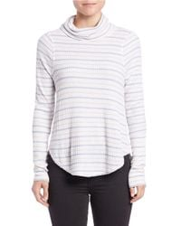 Free People | Natural Stripe Thermal Tee | Lyst