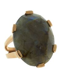 Stephen Dweck | Green Oval-Cut Labradorite Ring | Lyst