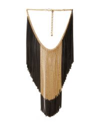 Forever 21 | Metallic Two-Tone Hanging Chain Necklace | Lyst
