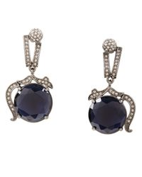 BCBGMAXAZRIA | Black Vintage-Inspired Gemstone Earrings | Lyst