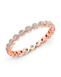 Anne Sisteron - Pink 14kt Rose Gold Bezel Set Diamond Ring - Lyst