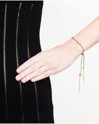 Carolina Bucci | Blue Silk And Gold Bracelet | Lyst