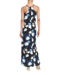 Karen Kane | Blue Floral Maxi Dress | Lyst