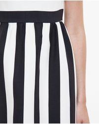 Valentino - Black Striped Dress - Lyst