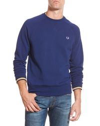Fred Perry | Blue Loopback Pullover for Men | Lyst