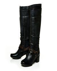Moda In Pelle - Black Jovena Medium Casual Long Boots - Lyst
