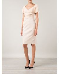 Jitrois - Pink 'ilva' Fitted Dress - Lyst