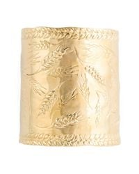 Aurelie Bidermann - Metallic 18kt Gold Plated 'francoise' Cuff - Lyst