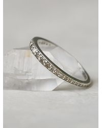 Free People - Metallic Champagne Diamond Band Ring - Lyst