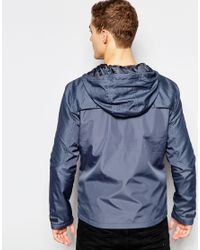 Jack & Jones | Gray Hooded Windbreaker Jacket for Men | Lyst