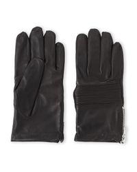 The Kooples - Black Side Zip Leather Gloves for Men - Lyst