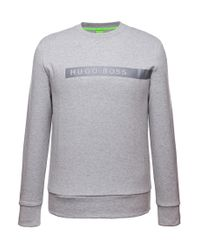 BOSS Green - Gray 'salbo' | Boss Logo Sweatshirt for Men - Lyst