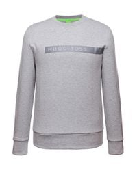 BOSS Green | Gray 'salbo' | Boss Logo Sweatshirt for Men | Lyst