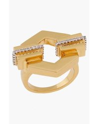 Rachel Zoe | Metallic 'Gavriel' Cutout Hexagon Ring | Lyst