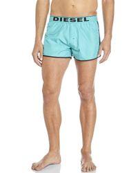 DIESEL - Blue Reversible Swim Trunks for Men - Lyst