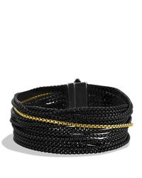 David Yurman - Metallic Sixteen-row Chain Bracelet With Gold - Lyst