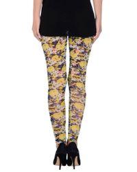 MSGM | Yellow Leggings | Lyst