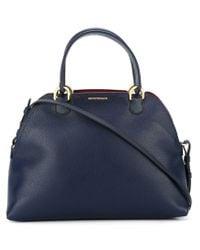 Emporio Armani | Blue Classic Shopper Tote | Lyst