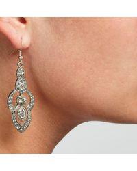 John Lewis - Metallic Cubic Zirconia Statement Drop Earrings - Lyst